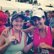 Me and Mom at the finish
